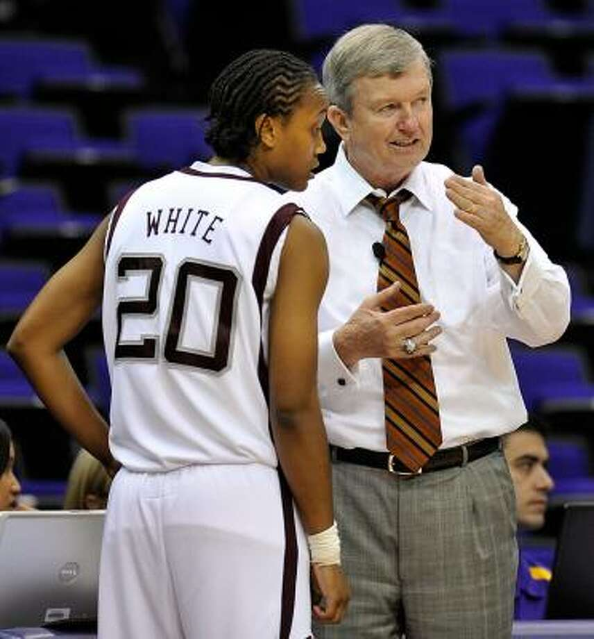 Texas A&M head women's basketball coach Gary Blair faces his alma mater, Texas Tech, tonight. Photo: Bill Feig, AP