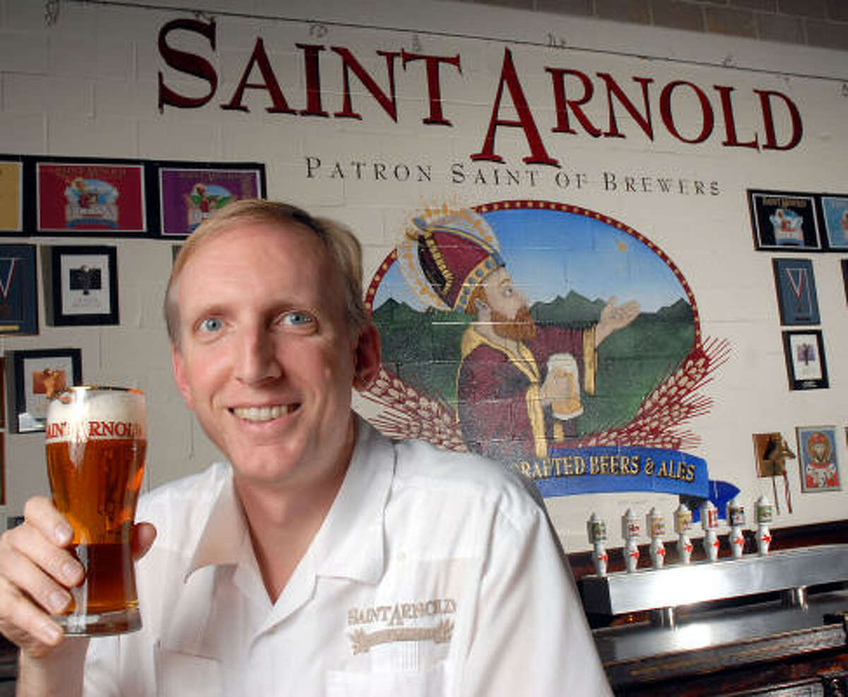 Brock Wagner, owner of St. Arnold's Brewery, is seen at the company's current facility on Fairway Park Drive in the Heights. Wagner plans to move the company's operation to its new location on Lyons sometime this summer.