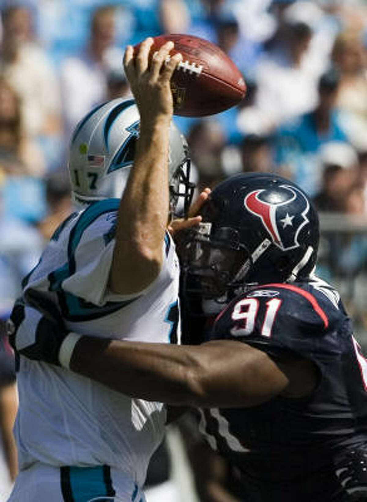 Texans defensive tackle Amobi Okoye will hand out 20 more C.A.T.E. (Changing Africa Through Education) scholarships while in Nigeria.