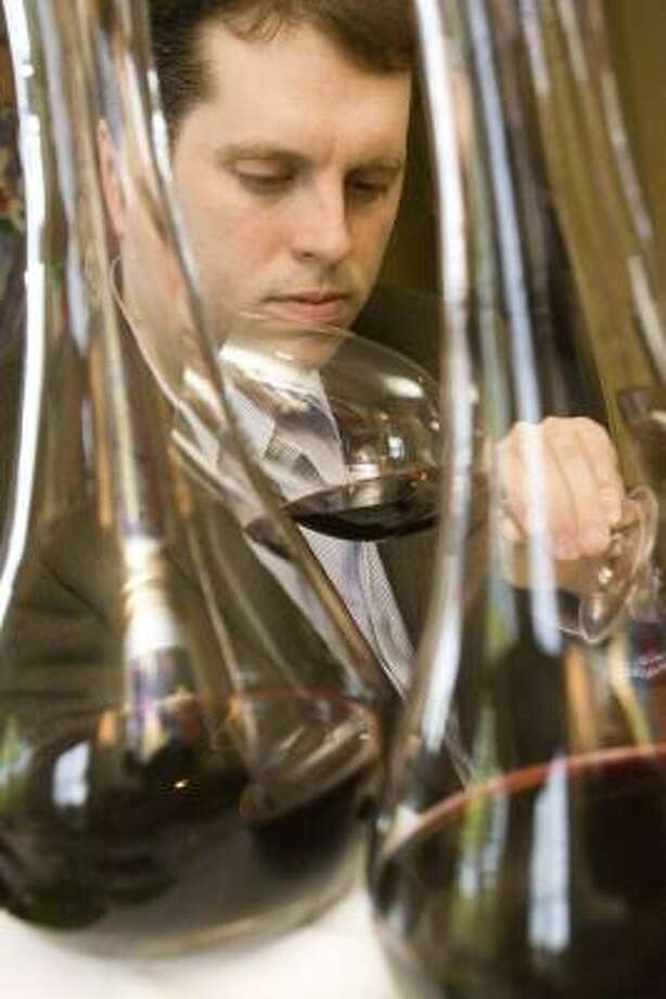 Sean Beck will defend his championship at Iron Sommelier 2009. Photo: BILL OLIVE :, FOR THE CHRONICLE