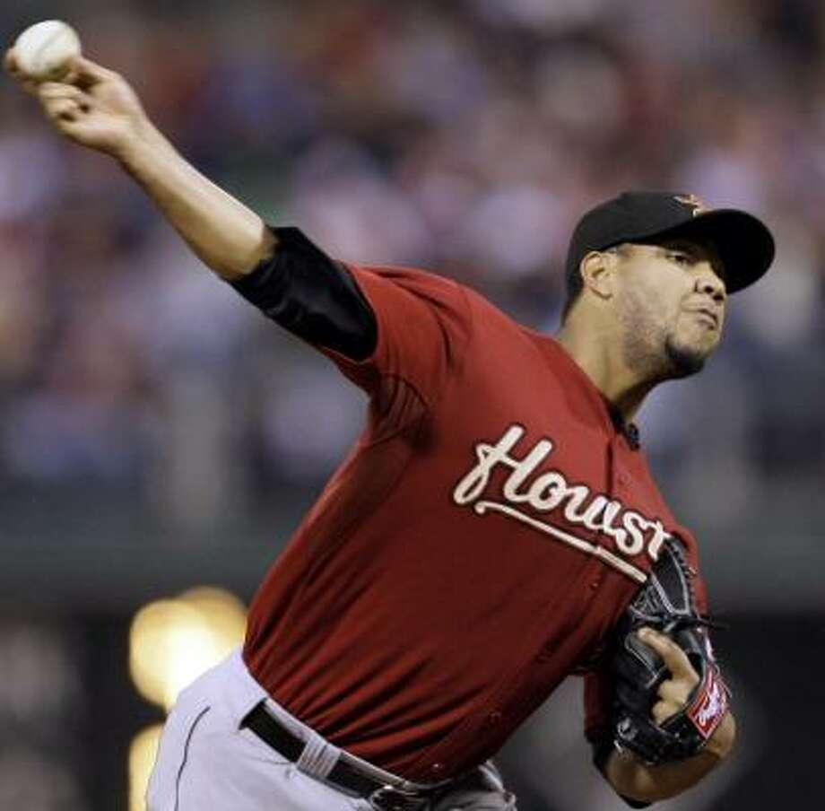 Astros righthander Yorman Bazardo allowed two runs in 5 2/3 innings Monday against the Phillies. Photo: Matt Slocum, AP