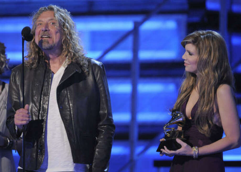 Robert Plant and Alison Krauss' collaboration, Raising Sand, won multiple Grammys. Photo: Mark J. Terrill, Associated Press