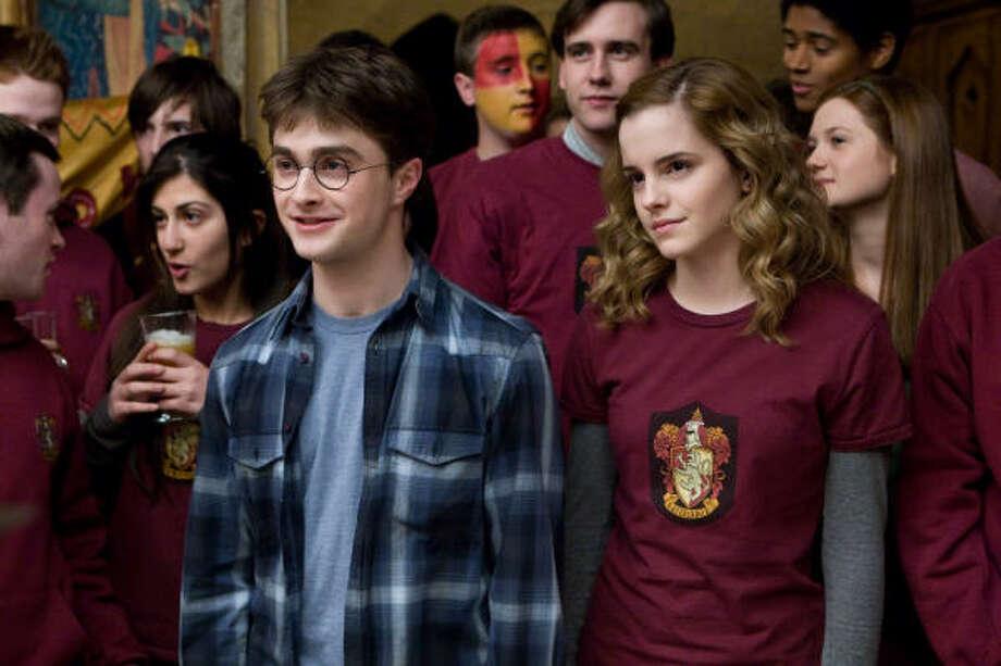 """""""Drugged Harry"""" is how Emma Watson describes Harry Potter co-star Daniel Radcliffe. Photo: Jaap Buitendijk, Warner Bros."""