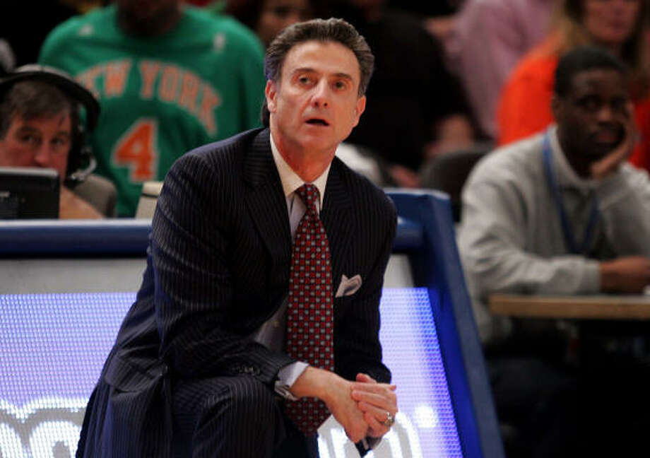 Despite possessing a No. 1 seed, Louisville head coach Rick Pitino admits this year's tournament is wide-open. Photo: Michael Heiman, Getty Images