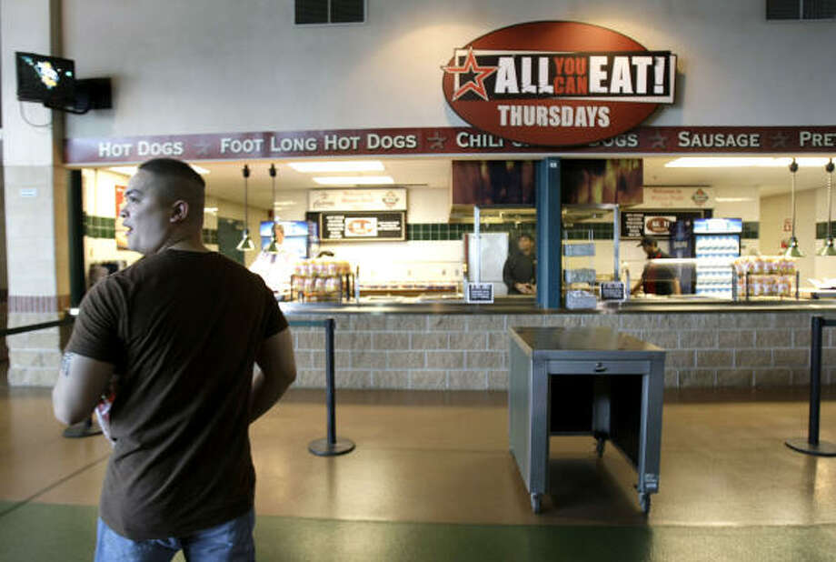 Minute Maid Park concession stands offer all types of food. Photo: Karen Warren, Houston Chronicle