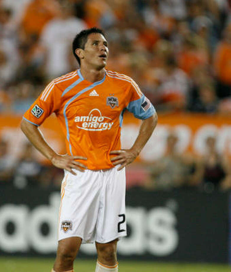 Brian Ching and the Dynamo are bracing for a quick turnaround. Photo: Julio Cortez, Houston Chronicle