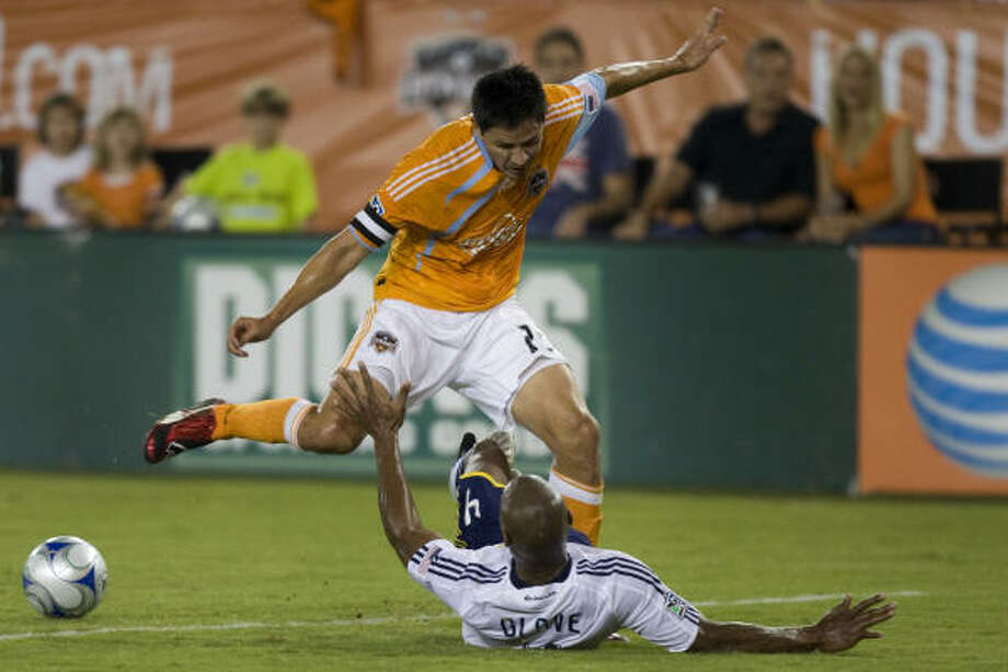 Ching is averaging just under 10 goals and three assists in his four seasons with the Dynamo. Photo: Smiley N. Pool, Chronicle