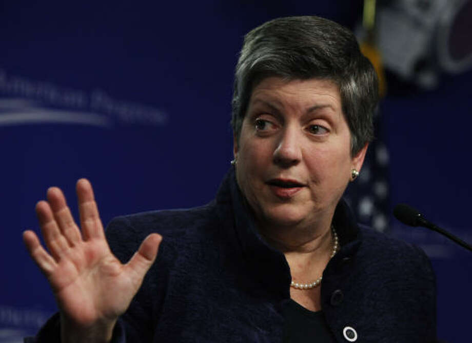 Illegal immigration has also fallen sharply, Homeland Security Secretary Janet Napolitano told a liberal think tank on Friday. Photo: Manuel Balce Ceneta, Associated Press