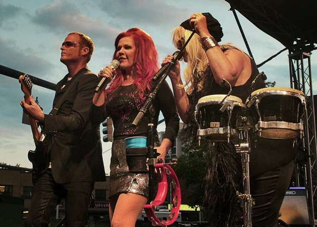 This summer's final Alive @ Five concert was headlined by the B-52s. Photo: Mike Macklem / Hearst Connecticut Media Group