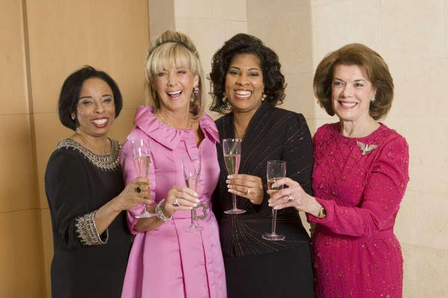 BUBBLING WITH JOY: Houston Chronicle 2009 Best Dressed honorees including Phyllis Williams, from left, Sheridan Williams, Diedra Fontaine and Jeanie Kilroy were presented at the annual announcement party at Neiman Marcus. Photo: Brett Coomer, Chronicle