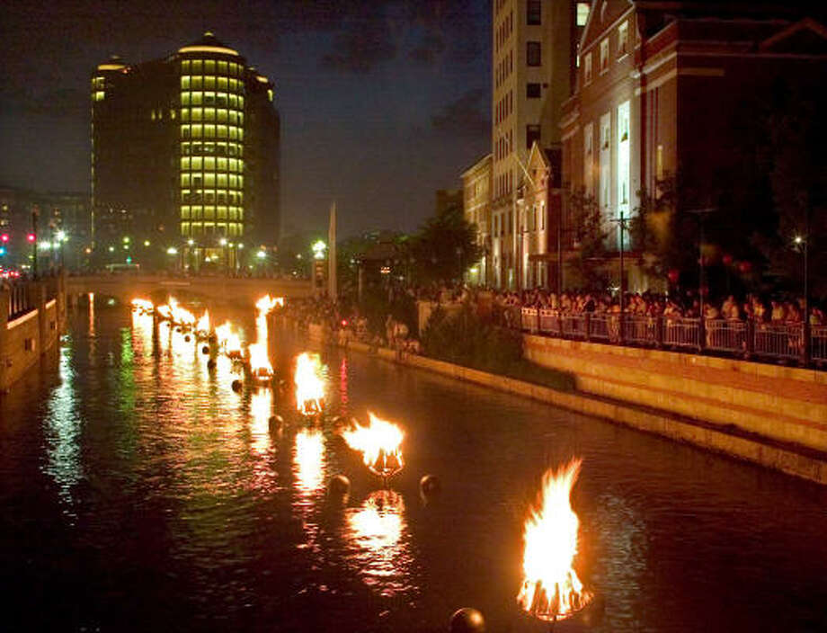 What's ranked just ahead of Houston? Providence, R.I. (above), site of some waterborne public art. Photo: STEW MILNE, AP
