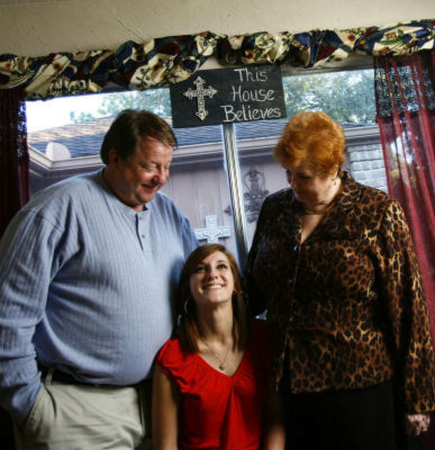 Carleton and Hazel Cole, of Houston, adopted their daughter Kayla, now 18, when she was 11. She had been in 16 foster care homes since the age of 3. Photo: Michael Paulsen, Chronicle