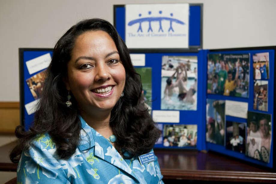 Myrta Torres, en las oficinas del The Arc of Greater Houston. Photo: Nathan Lindstrom, Para La Voz