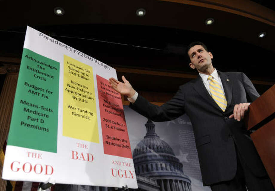 Rep. Paul Ryan, a Republican from Wisconsin and the ranking GOP member on the House Budget Committee, talks about the president's proposals. Photo: Susan Walsh, AP