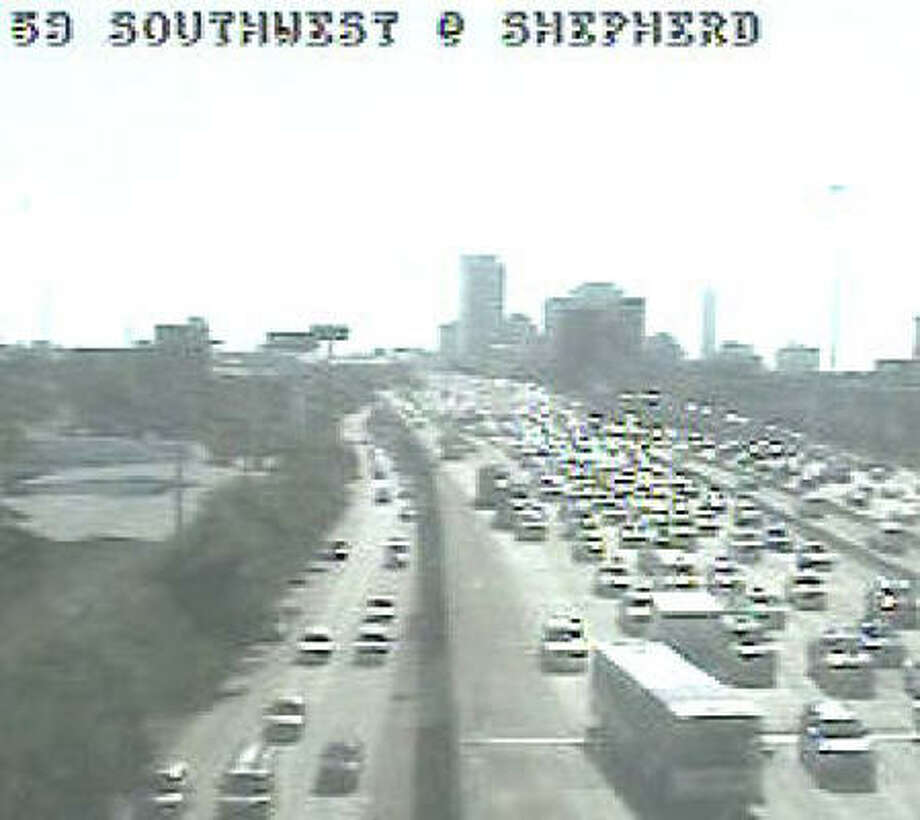Here's the scene on U.S. 59 in a photo from a Houston Transtar camera.