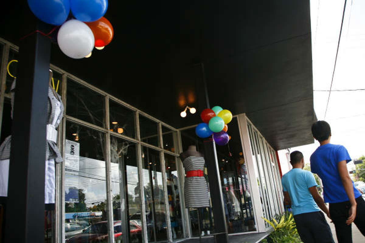 """As with these shoppers on Westheimer, Montrose is """"one of the few places in Houston where people get out of their cars and walk around,"""" said a research associate."""