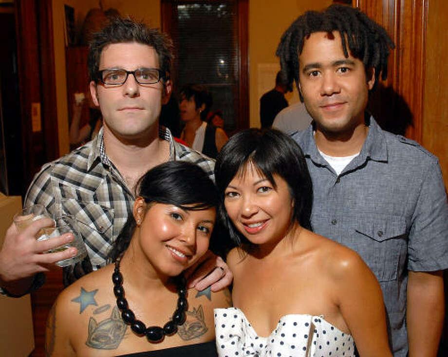 Major Miller, from left, Gina Miller, Tina Zulu and Josh Zulu. Photo: Dave Rossman