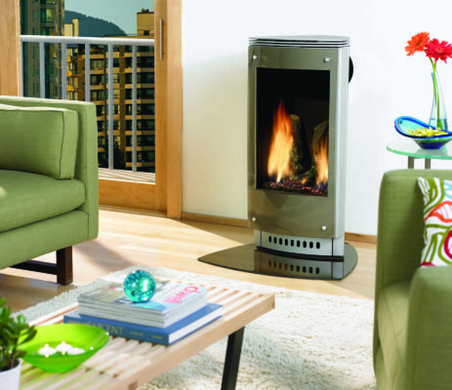 WARM TOUCH: The Paloma is a direct-venting fireplace that takes up little space and adds a stylish touch to one's home.