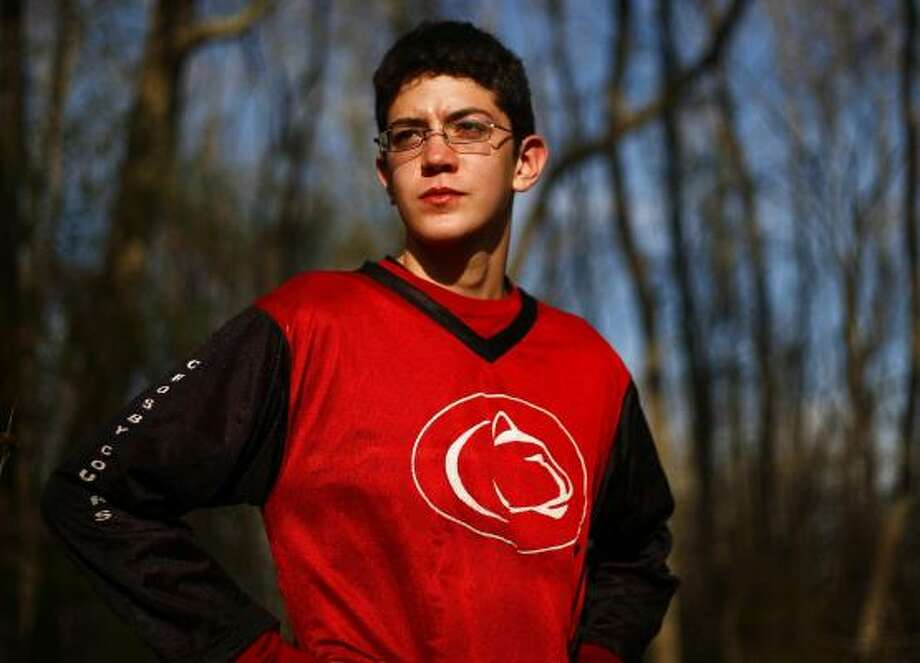 Cody Moore became lost during a hike as part of a beginner's orienteering course. Photo: Michael Paulsen, Chronicle