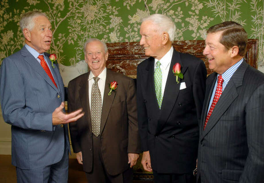 Men of Distinction honorees Drayton McLane Jr., from left, Virgil Waggoner and Dr. Denton Cooley took the spotlight at River Oaks Country Club. Photo: Dave Rossman, For The Chronicle