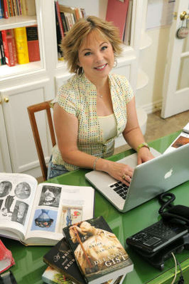"""DeeAnne Gist, of The Woodlands, is the author of """"edgy inspirational"""" Christian fiction books whose genre seeks to throw off the yoke of traditional Christian fiction and offer something less sterilized. Photo: Jerry Baker, For The Chronicle"""