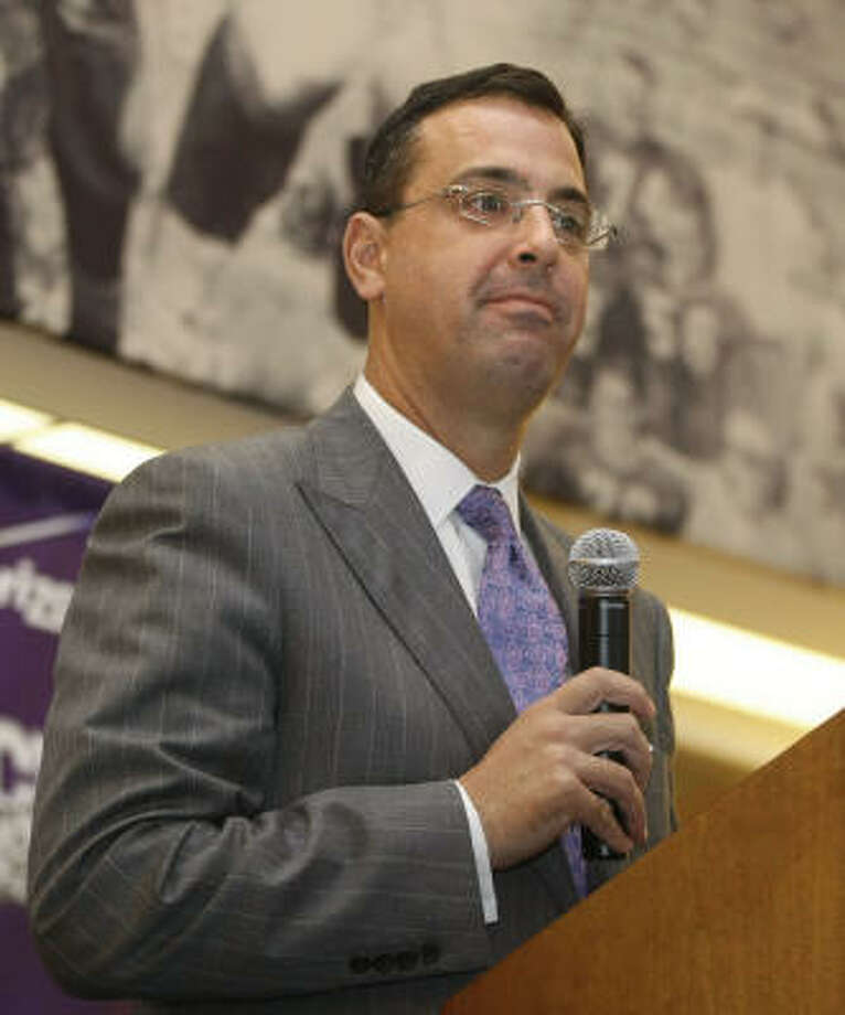 Chris Del Conte's tenure at Rice was marked by considerable renovations to athletics, most notably Autry Court. Photo: KELLEY CHINN, STAR-TELEGRAM/KELLEY CHINN