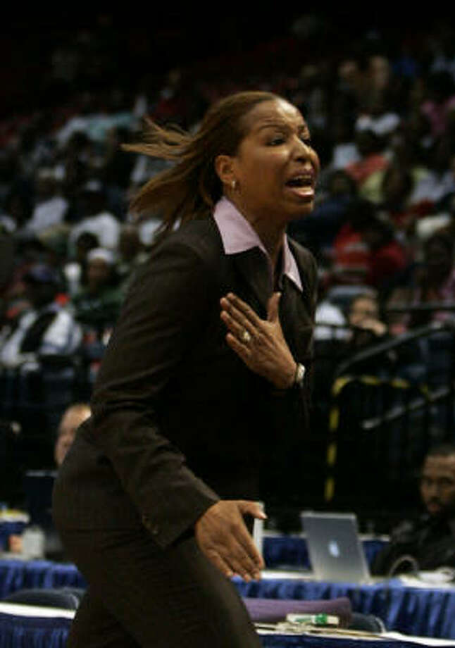 Prairie View A&M women's basketball coach Cynthia Cooper-Dyke has led the Panthers to three consecutive Southwestern Athletic Conference regular-season titles. Photo: Butch Dill, AP