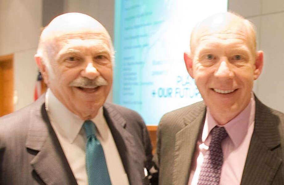 Ed Wulfe and Mayor Bill White Photo: Billy Smith II, Chronicle