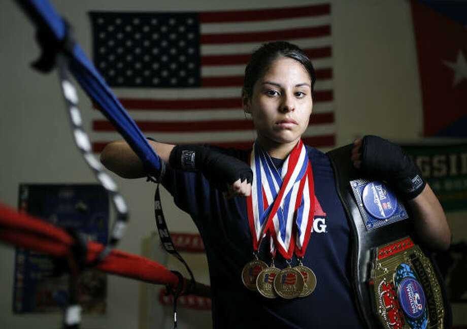 Marlen Esparza won her third consecutive Golden Gloves title and her first in the 112-pound division. Photo: Chronicle File Photo