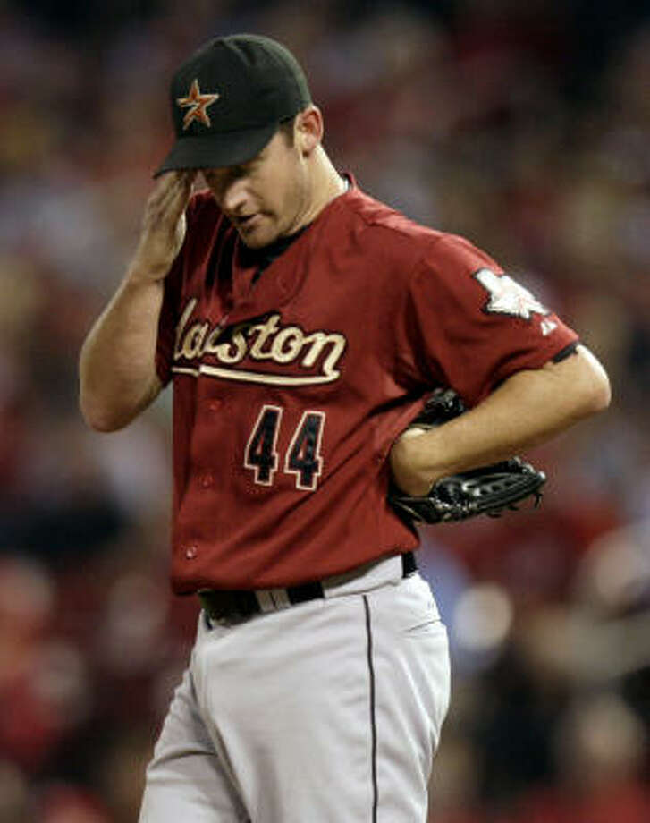 Roy Oswalt allowed three runs in the first innings then threw five scoreless frames. Photo: Jeff Roberson, AP