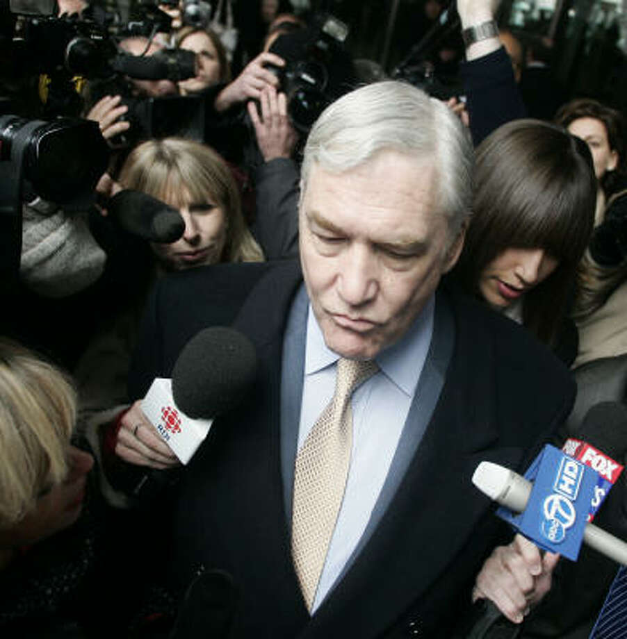 Conrad Black is serving a 6½-year term for mail fraud and obstruction of justice at a Florida prison. Photo: Jerry Lai, AP