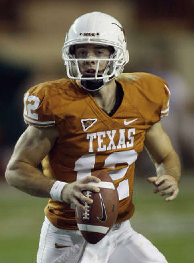 UT quarterback Colt McCoy finished runner-up for the Heisman Trophy last season. Photo: Harry Cabluck, AP