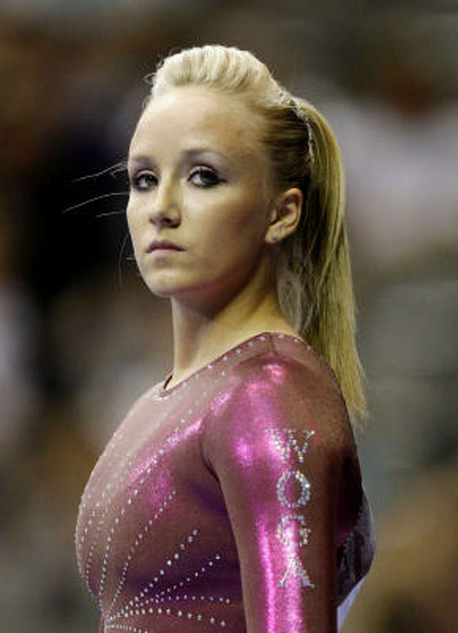 Nastia Liukin competed at the Visa Gymnastics Championships earlier in August in Dallas. She said she hopes to be on the 2012 U.S. Olympic team. Photo: Ronald Martinez, Getty Images