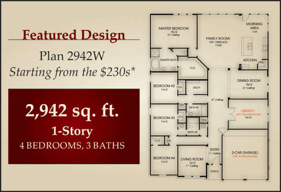 FOR THE HOLIDAYS:  Perry Homes offers buyers holiday incentives. Shown is one-story Plan 2942W.