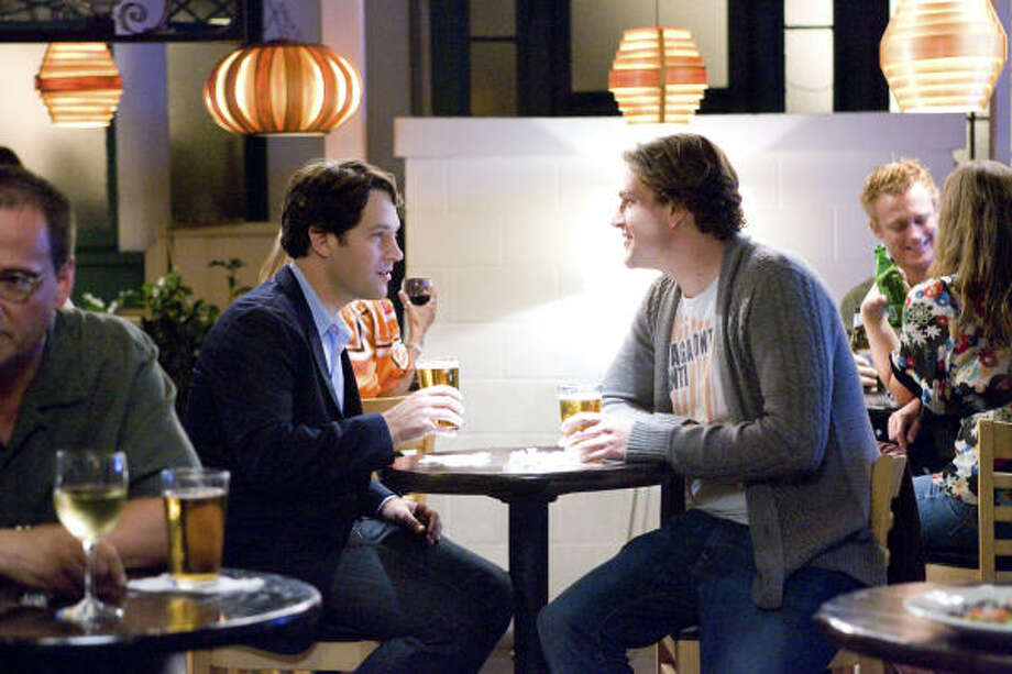 Peter Klaven (Paul Rudd, left) befriends Sydney Fife (Jason Segel, right) in his search for a best man for his upcoming wedding in the comedy I Love You, Man. Photo: Scott Garfield