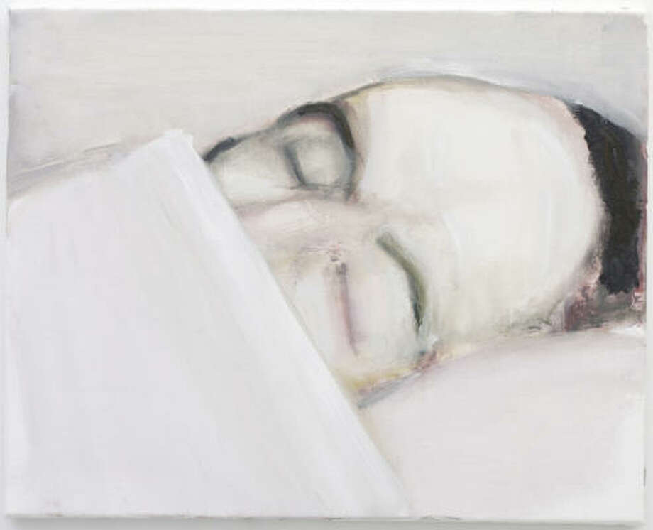 Marlene Dumas' painting Death of the Author (2003) was inspired by newspaper or magazine photos. Photo: Collection Jolie Van Leeuwen