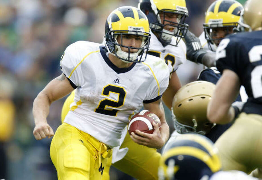 Cy-Fair alum Sam McGuffie produced 809 all-purpose yards and four touchdowns in 10 games with Michigan, but elected to transfer following his lone season in Ann Arbor. Photo: Gregory Shamus, Getty Images