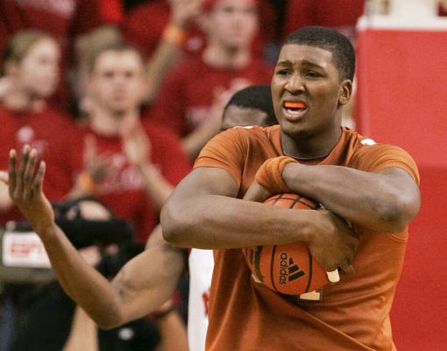 Texas' Dexter Pittman has had a lot of success with the basketball lately and hopes to keep it up. Photo: Nati Harnik, AP