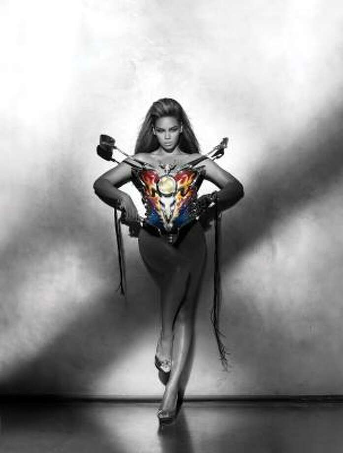 Beyonce dons a motorcycle bustier designed by Thierry Mugler for a photo on her album I AM ... Sasha Fierce. Photo: Peter Lindbergh