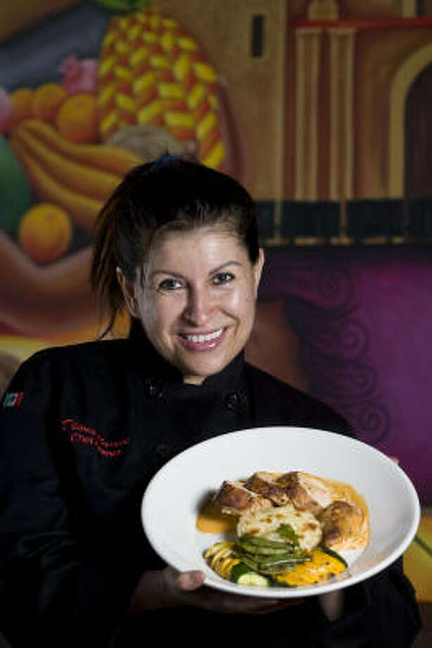 Diana Ramos, chef and co-owner of Brisa Cocina Mexicana, offers modern takes on traditional Mexican food. Photo: James Nielsen :, Chronicle