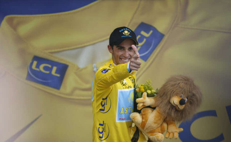 Alberto Contador has all but locked up the Tour de France after his stage win Thursday. Photo: CHRISTOPHE ENA, AP