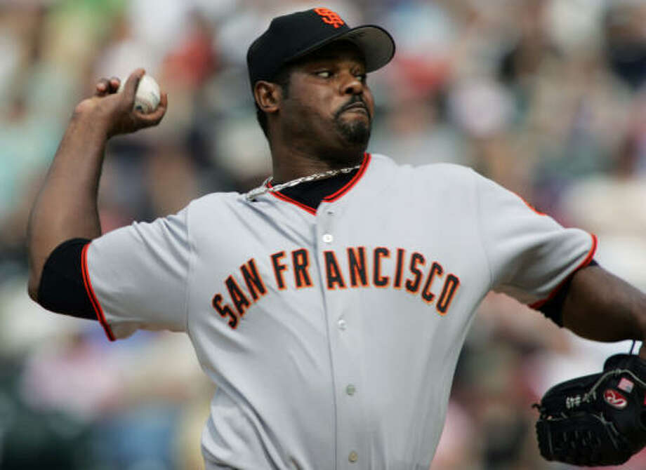 Armando Benitez stopped in San Francisco as part of a long journey after leaving the Orioles. Photo: DAVID ZALUBOWSKI, AP