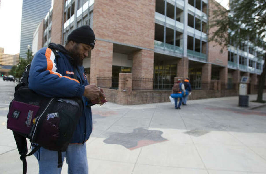 The Beacon feeds some 400 people each day it's open. Monte Wright, one of those served by an Episcopal Church program, says he has been homeless off and on since 2005. Photo: Brett Coomer, Chronicle
