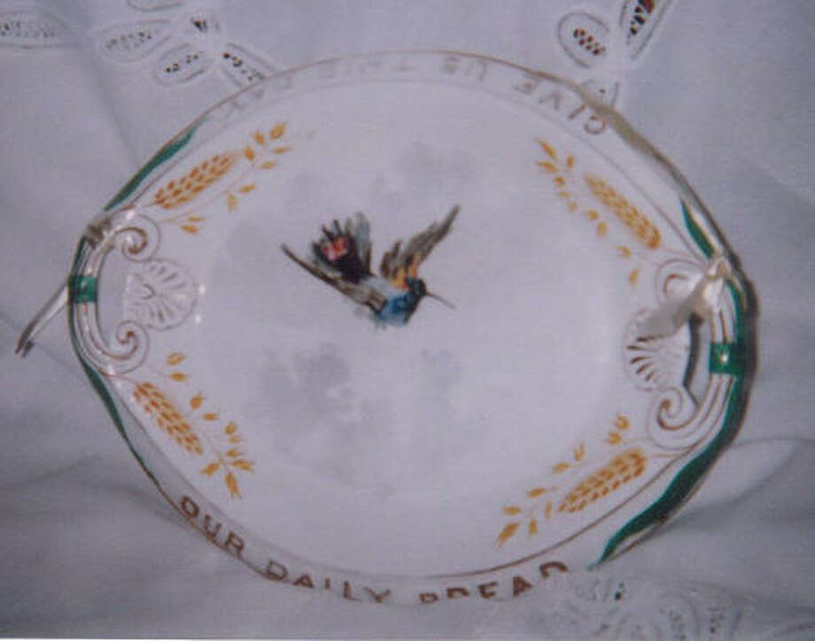EVERYDAY DISHES: Bread plates were part of each day's table settings from the late 1800s to early 1900s.