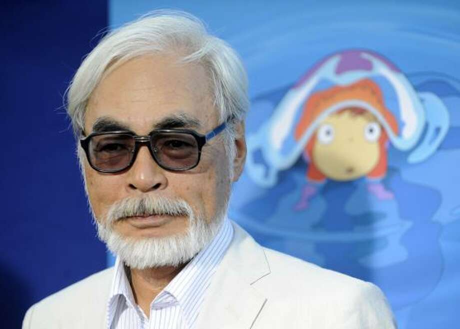 Director Hayao Miyazaki's films routinely set box-office records in his country, but the English-language verisons rarely gain more than a cult following in the U.S.  His newest film, Ponyo, opened Friday. Photo: Chris Pizzello :, Associated Press