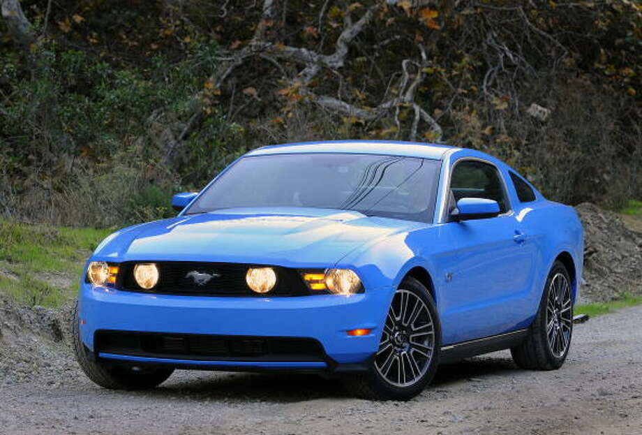 Ford offered the 2010 Mustang in Grabber Blue. Photo: Wieck