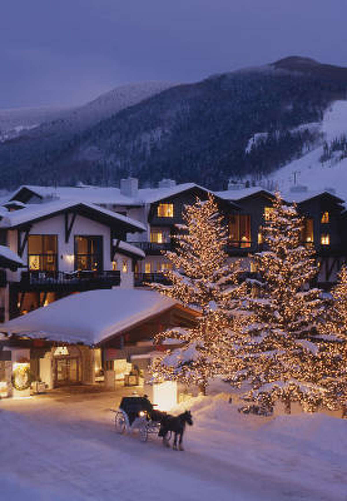 WINTER HAVEN: It's no wonder Vail is perennially popular. This winter wonderland scene outside the Lodge at Vail sets the mood. WINTER HAVEN: It's no wonder Vail is perennially popular. This winter wonderland scene outside the Lodge at Vail sets the mood.