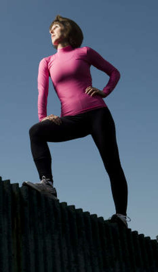 Heart-attack survivor Stacie Rubin, who will be competing in her fifth Chevron Houston Marathon on Sunday, says running is the best possible medicine for her. Photo: Brett Coomer, Chronicle