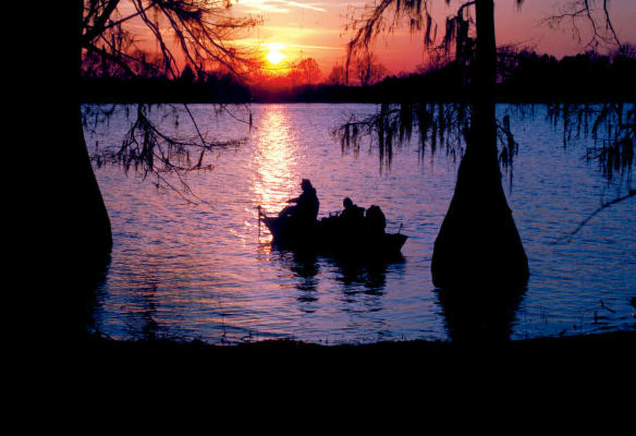 Caddo Lake, which spans Texas and Louisiana, attracts fisherman, swimmers, boaters and picnickers. Photo: Shreveport-Bossier Convention An