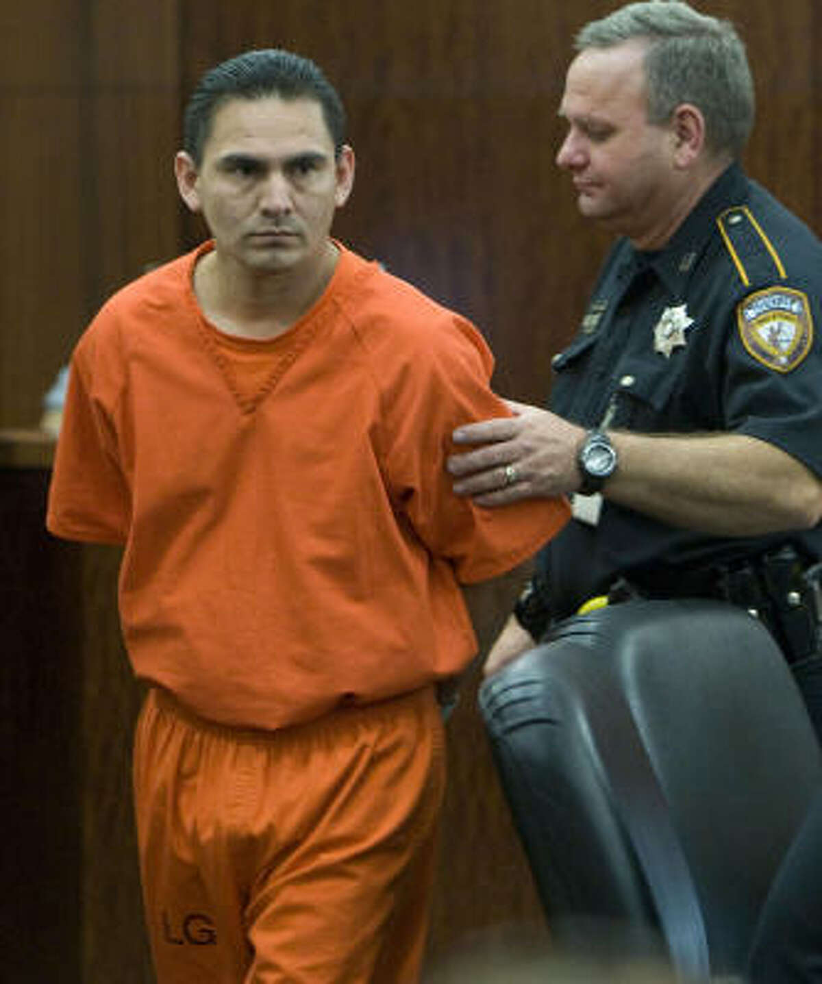 Jaime Zamora, shown at a hearing last week, is the accused mastermind of the Perez slaying.